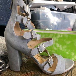 Sam Edelman strappy heels worn once with box
